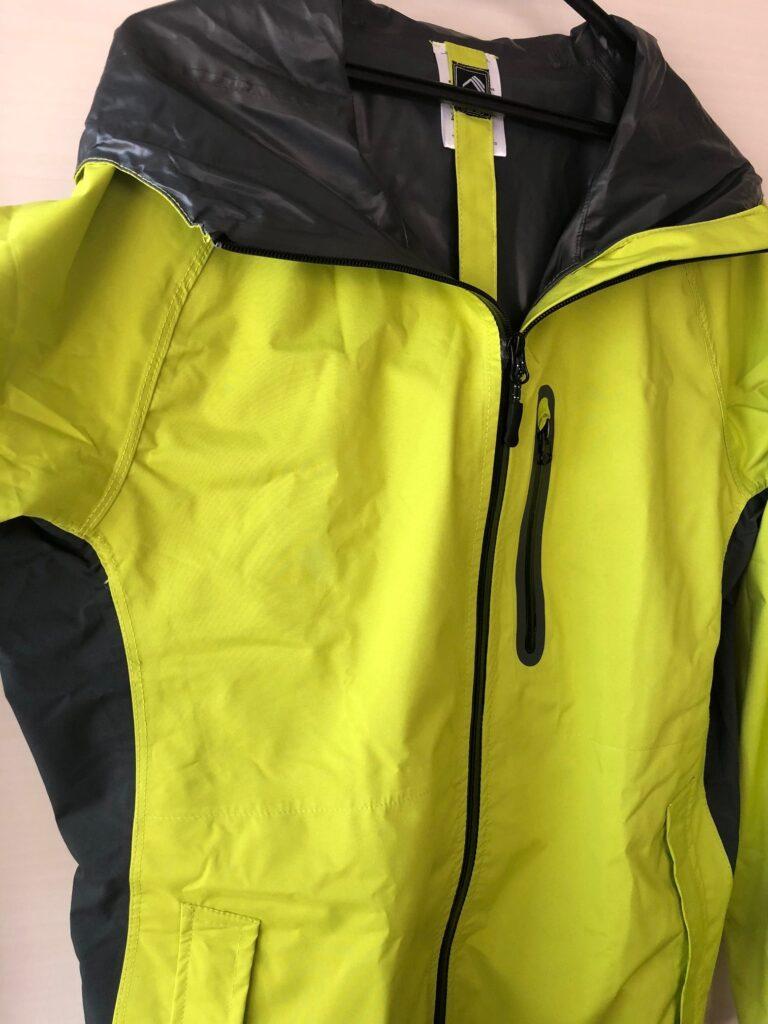 ワークマン RAIN SUIT レインスーツSTRETCH R-006 ライムイエロー きれいな黄緑色