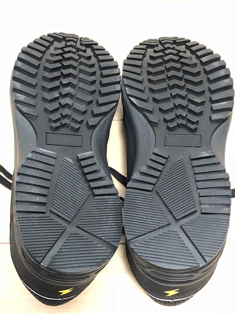 ワークマン 安全靴 ハイスペック静電セーフティシューズ SF790 2900円 ソール 裏面