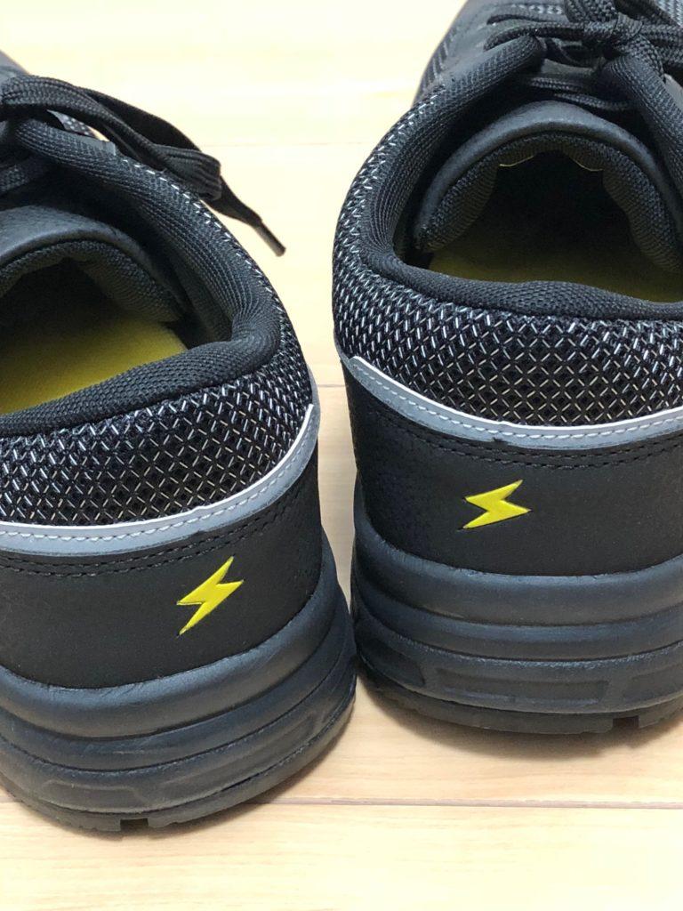 ワークマン 安全靴 ハイスペック静電セーフティシューズ SF790 2900円 かかと 反射材