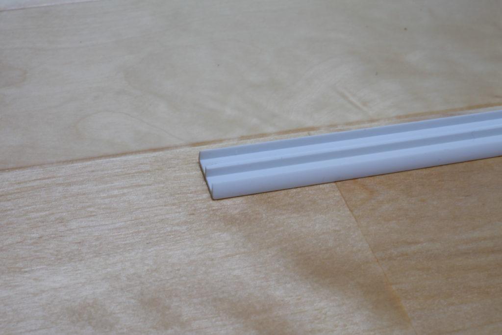 光モール ホワイトガラス戸レール5下 2000mm