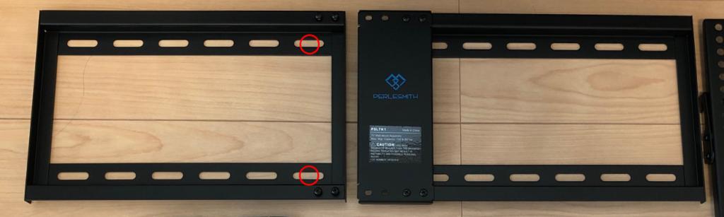 液晶テレビ 壁掛け 金具 取付 方法 間柱 中央 1本 ラグボルト 位置