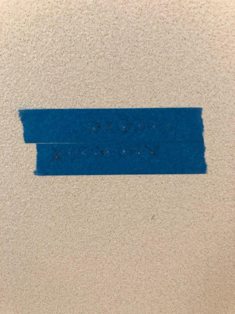 石膏ボード 下地探し マスキングテープ 正確 45mm