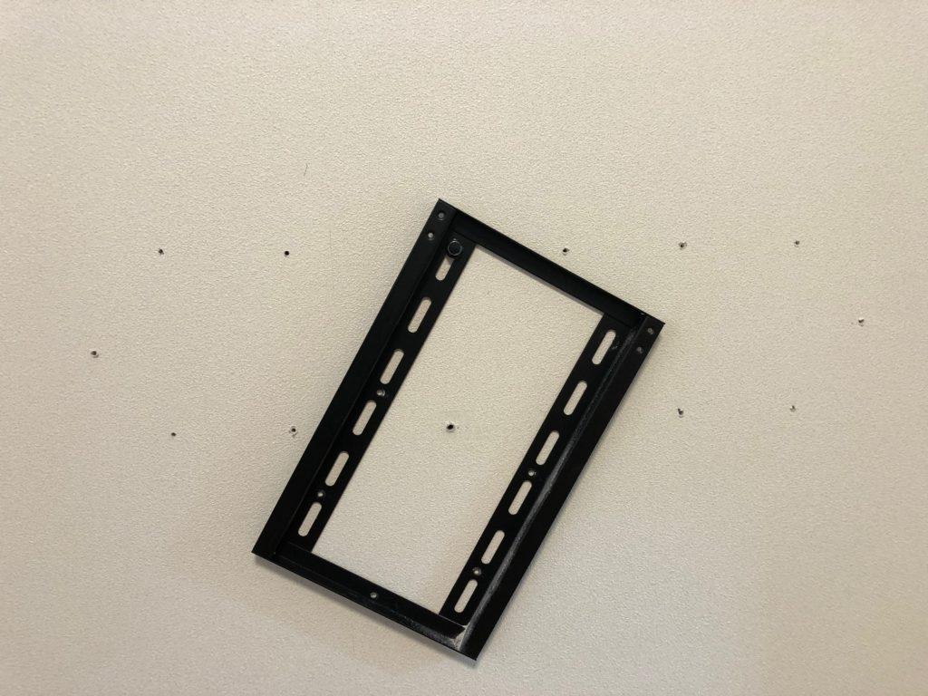 テレビ壁掛け用金具 取り付け DIY ウォールアンカー 下穴 取り外し