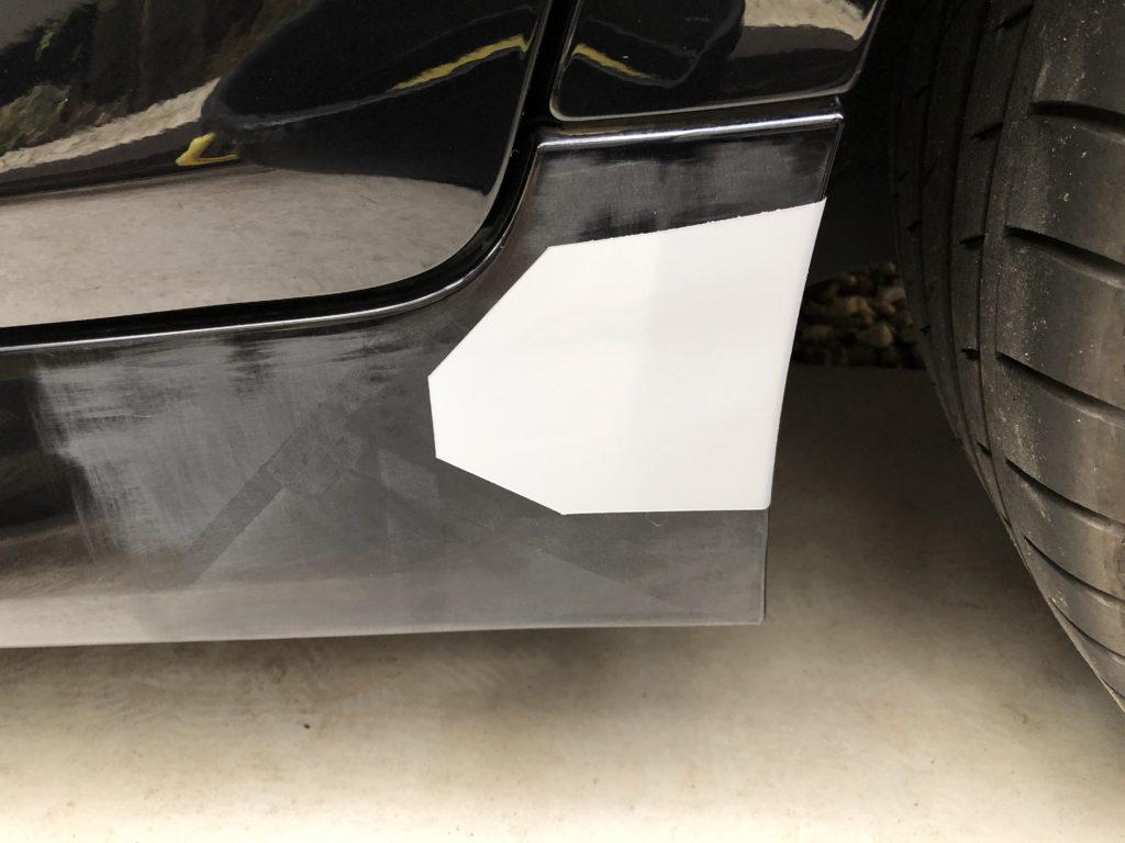 サイドバンパー 補修 修理 キズ DIY プラサフ 乾燥後