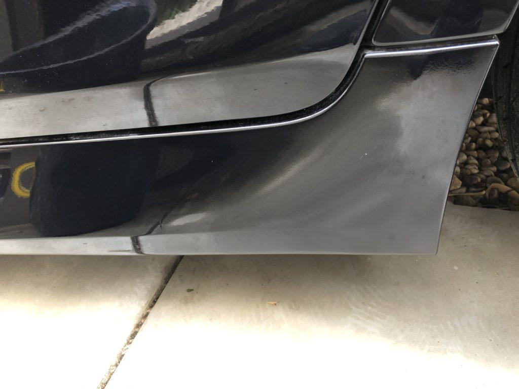BMW サイドバンパー キズ 補修 DIY 修理後 研磨後