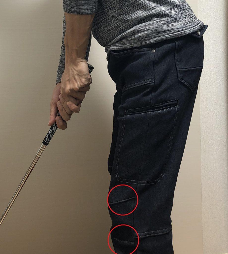 ワークマン マイクロウォームパンツ ゴルフ アドレス ひざ 取りやすい