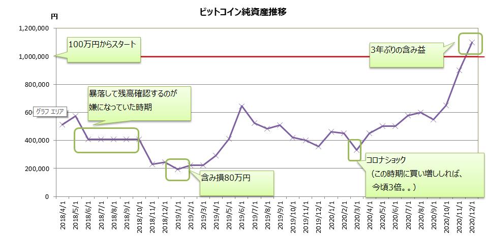 ビットコイン 純資産総額推移 グラフ 個人情報