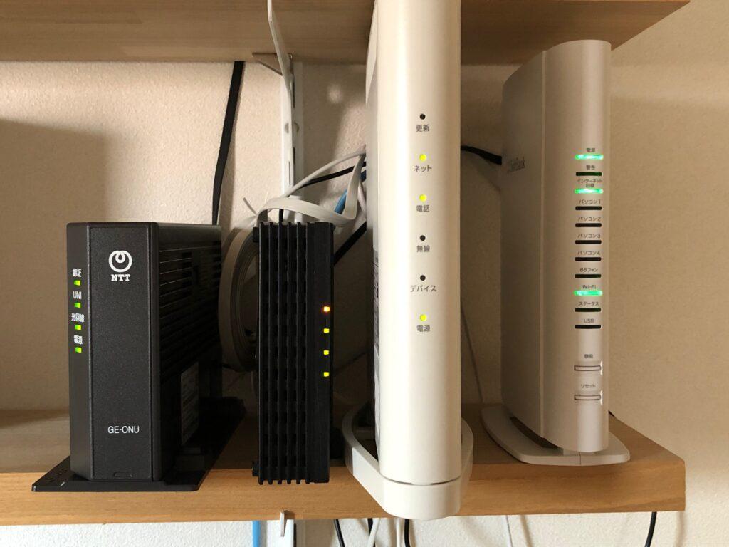 auひかり ソフトバンク光 契約重複期間 モデム2台 光モデム Wi-Fiルーター